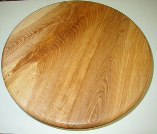 "17"" x 2""table  top of ash crotch wood"