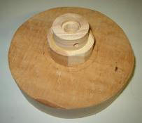 wood turning clock image