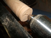 woodturning project oval handle