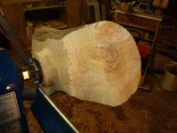 wood turning Manitoba maple image