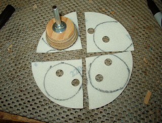 disk cut into quarters