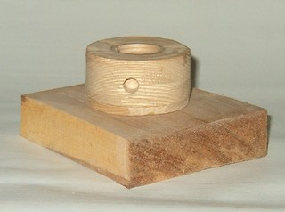 wood turning glue block