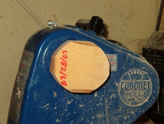 glue block on wood turning lathe