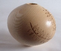 wood turning ash